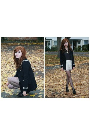 Zara coat - Republic skirt - vintage top - new look shoes - Primark tights