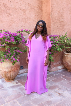 bubble gum kaftan homemade dress