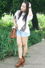 Brown-gifts-ahoy-boots-brown-thrift-store-bag-light-blue-guess-shorts