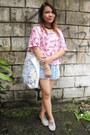 Eggshell-canvas-bag-bag-light-blue-forever-21-shorts-pink-forever-21-top
