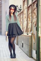 houndstooth TMART dress - felt black Nordstrom hat - suede Forever 21 heels