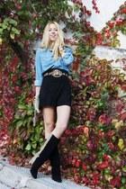 Levis shirt - asos boots - balenciaga bag - Zara shorts
