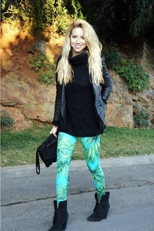 H&M-Versace leggings - Zara blazer
