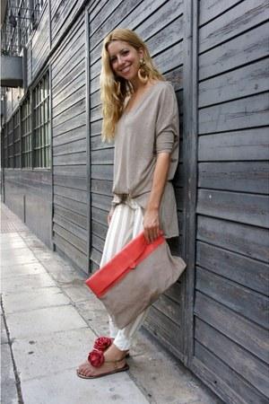 Zara bag - River Island jeans - Zara t-shirt