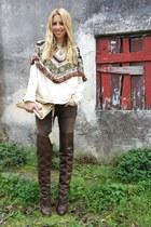 Zara boots - balenciaga bag