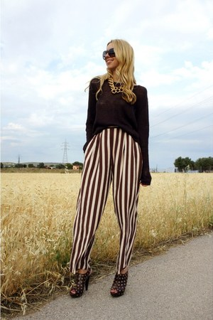 vintage pants - Massimo Dutti blouse