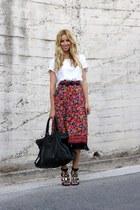 Uterque sandals - balenciaga bag - Bershka top