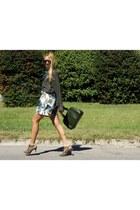 Zara heels - American Apparel shirt