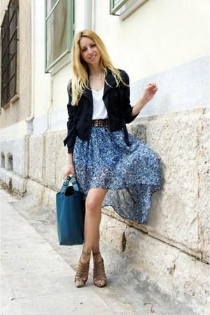 Zara heels - Mango jacket - Zara bag - f21 skirt