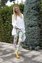 River Island pants - Zara cardigan - Sonia Rykiel sandals