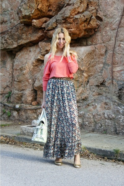 Forever 21 skirt - Luella bag - Forever 21 jumper