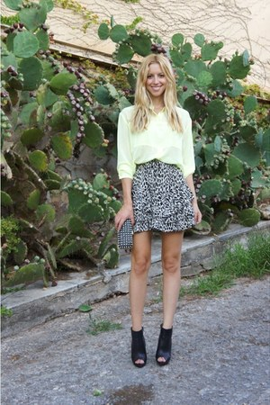 Zara skirt - Zara boots - Zara bag - H&M blouse