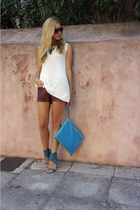 Zara shorts - Jimmy Choo sunglasses - Zara top - Vicini sandals