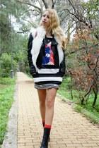 asos dress - Chanel bag