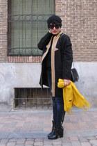 zalando coat - Zara boots - Zara jeans - Zara bag - COS jumper