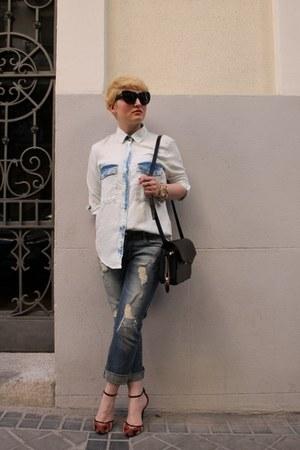 Zara jeans - Zara shirt - Alexander Wang bag - Zara heels