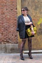 Mango coat - 31 Phillip Lim bag - asos stockings - Zara skirt - Zara heels