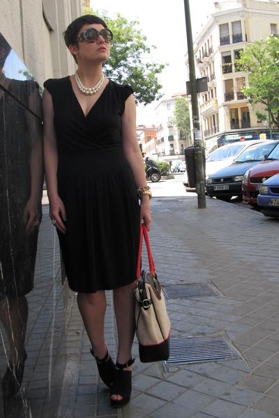 Etsy necklace - Comptoir des Cotonniers dress - Topshop bag - Mango heels