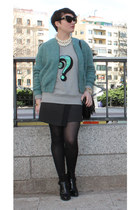 asos jacket - Zara boots - French Connection sweatshirt - Zara skirt
