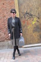 H&M skirt - H&M coat - Furla bag - Zara sweatshirt - Zara heels