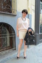 black H&M blazer - leather Comptoir de Cotonniers bag