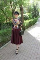 Zara bag - H&M top - asos skirt - Sigerson Morrison heels