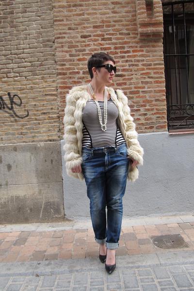 asos coat - Bershka jeans - karen millen top - Zara heels - Uterqüe necklace