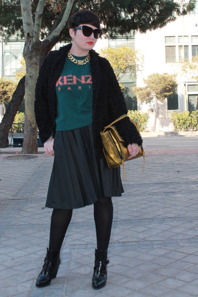 Kenzo jumper - Zara boots - River Island coat - 31 Phillip Lim bag