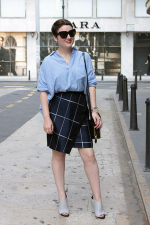 whistles skirt - Zara shirt - Alexander Wang wedges