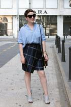 whistles skirt - Zara shirt - Alexander Wang wedges