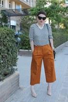 t by alexander wang t-shirt - Mango heels - Bimba & Lola pants