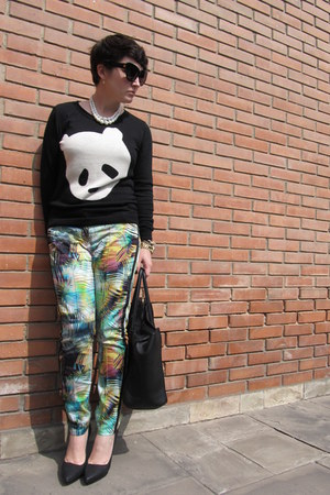 asos sweater - Suite Blanco pants - Zara heels - Etsy necklace