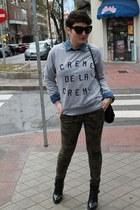 Stop&walk sweatshirt - Zara boots - H&M shirt - Zara pants