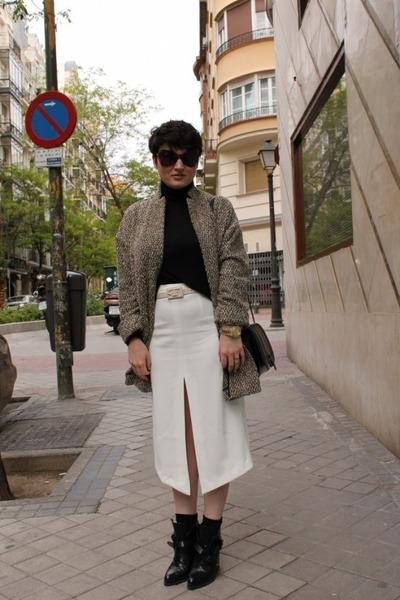 asos skirt - Zara boots - asos coat - Zara jumper
