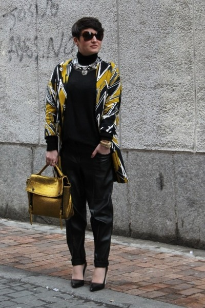 Bimba y Lola coat - 31 Phillip Lim bag - Zara jumper - Mango necklace