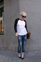Bershka jeans - 31 Phillip Lim bag - Zara heels - asos t-shirt