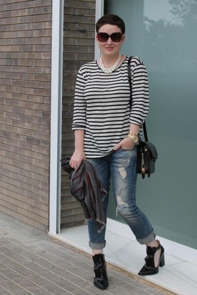 Zara jeans - Zara scarf - Alexander Wang bag - Zara heels