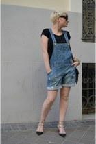 Zara t-shirt - Alexander Wang bag - Valentino heels - Zara romper