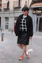 Zara sneakers - River Island coat - Michael Kors bag - Choies jumper