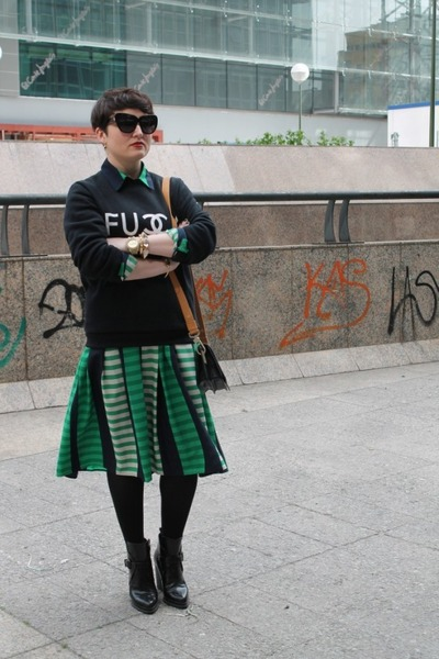 asos skirt - asos shirt - & other stories bag - Sheinside sweatshirt