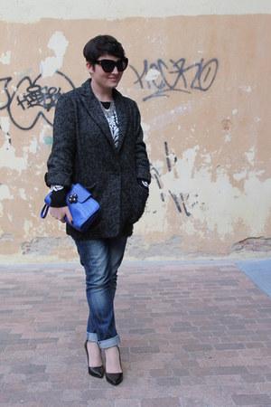 asos bag - Mango coat - Bershka jeans - Zara heels