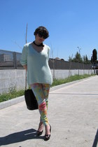Zara jumper - Mango necklace - Stradivarius pants - Zara heels
