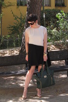 asos dress - VJ-style bag - dior sunglasses - Zara sandals