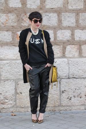 zalando coat - 31 Phillip Lim bag - Sheinside sweatshirt - dune heels