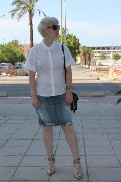 Bimba y Lola shirt - Alexander Wang bag - Alexander Wang heels - H&M skirt