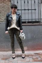 Sigerson Morrison heels - H&M jacket - Zara pants - MINUSEY jumper