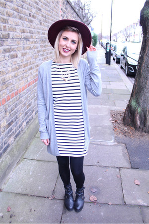 tshirt Topshop dress - cut out Topshop boots - fedora Primark hat