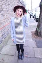 tshirt Topshop dress - cut out Topshop boots - fedora Primark hat