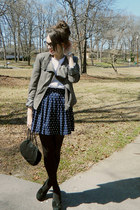 charcoal gray Ark & Co jacket - black opaque-to-waist George tights
