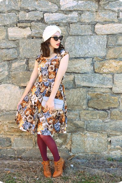 tawny shenanigans Seychelles boots - tawny Retrolicious dress